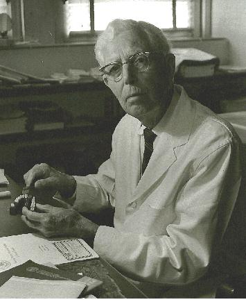 Charles C. Bass, M.D. image in laboratory